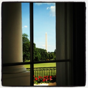 A photo I took from the White Room of the East Wing of the White House, while attending the 2012 LGBT Pride Month Reception.