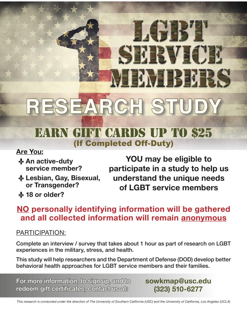 USC Approved DOD LGBT Study Flier.png